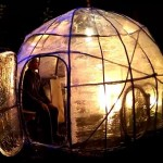 ストレッチフィルム(梱包用ラップ)で作るドームハウスとカヤック(カヌー)