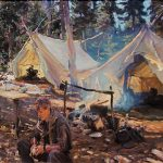 キャンプを題材にしたノスタルジックな絵画アートやイラスト10選