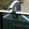 ソーラーウォールは太陽熱エネルギーを吸収して冷たい空気を熱風に変える自作可能な暖