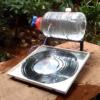 銅管を使った小型のDIY太陽熱温水器は電気ガスなしで効率的にお湯が作れる装置